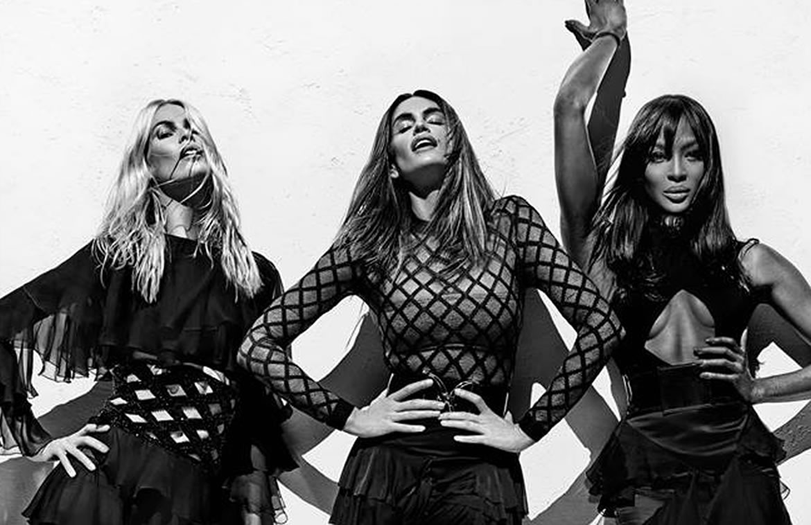 Cindy Crawford, Naomi Campbell and Claudia Schiffer Star In Balmain Spring 2016 Ad