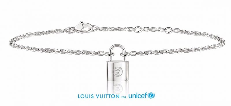 LOUIS_VUITTON_unicef_Silver Lockit bracelet