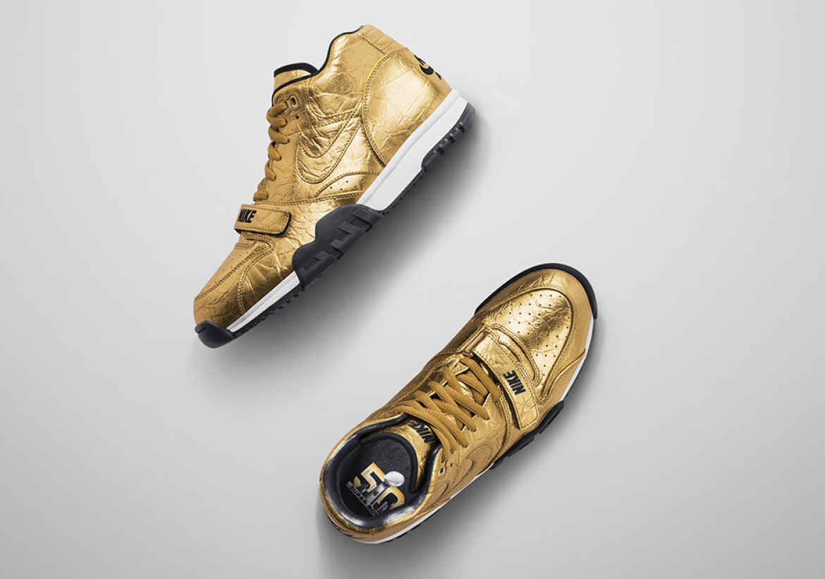 Nike Gold Sneakers Celebrate Super Bowl 50