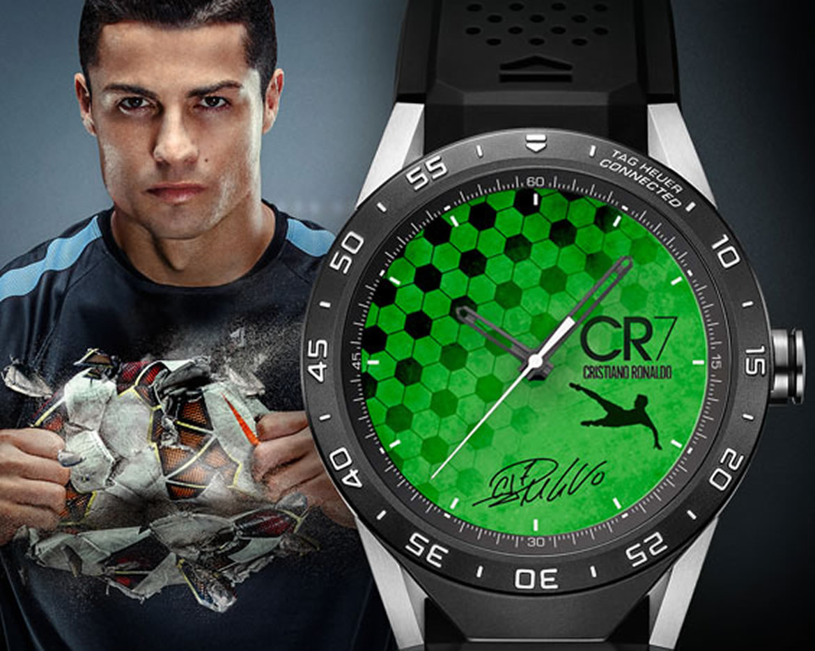 Tom brady and cristiano ronaldo design tag heuer connected watches pursuitist for Cristiano ronaldo tag heuer