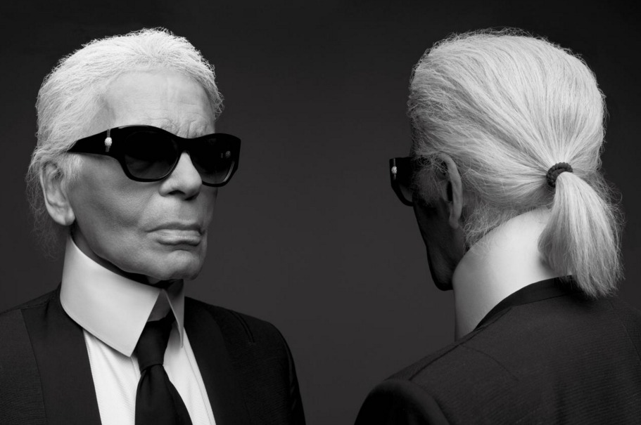 Karl Lagerfeld And Hedi Slimane Photograph Each Other For V Magazine Cover