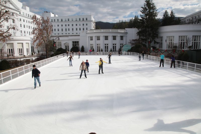 The ice skating rink at The Greenbrier