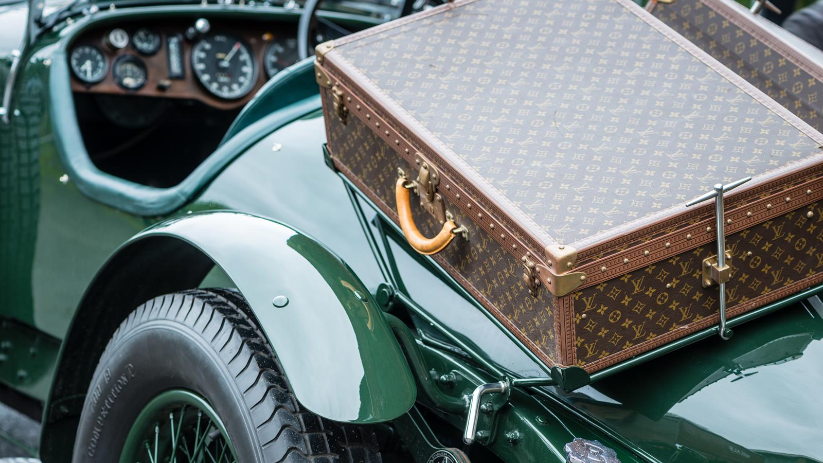 rare bentley with vintage louis vuitton luggage is up for sale pursuitist. Black Bedroom Furniture Sets. Home Design Ideas