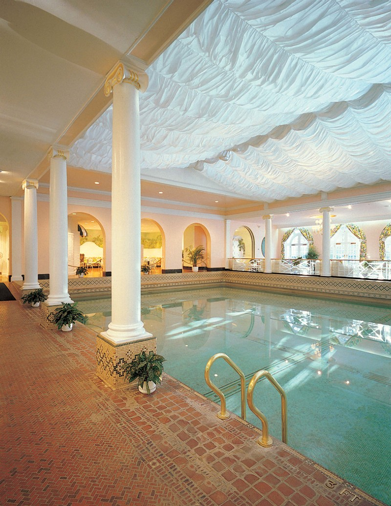 The indoor swimming pool at The Greenbrier