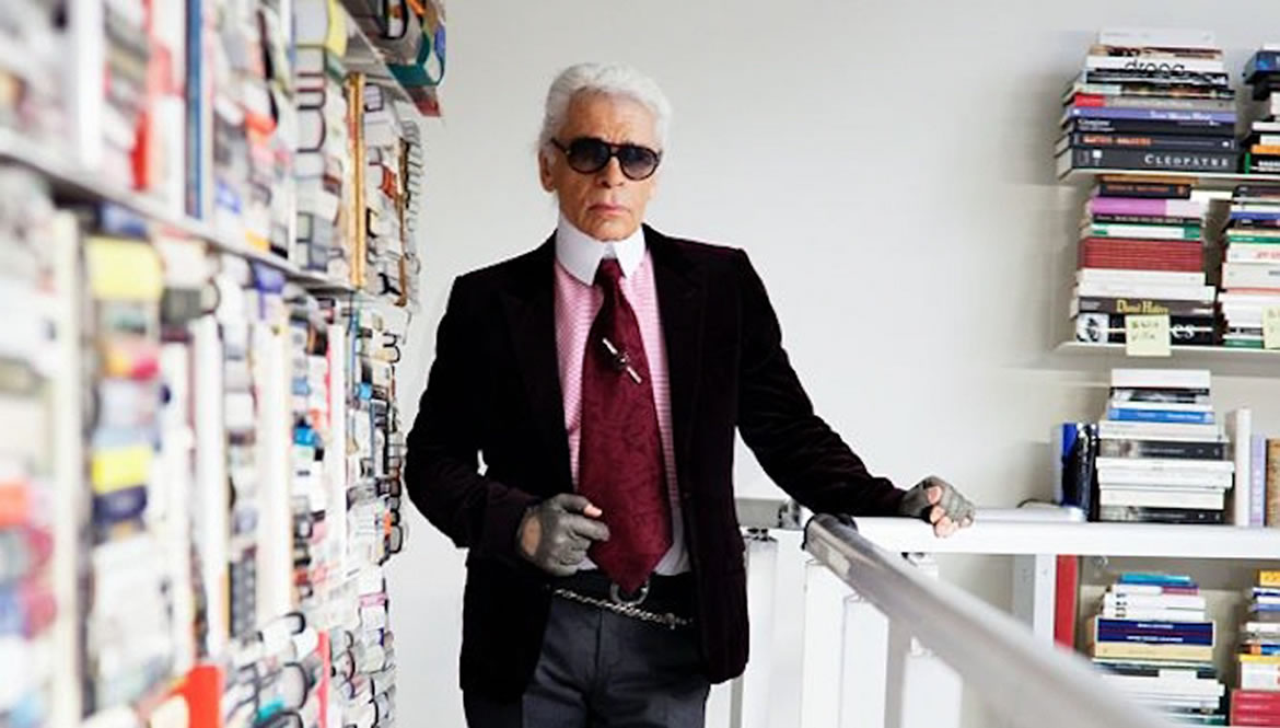 Sneak Peek Inside Karl Lagerfeld's Private Library