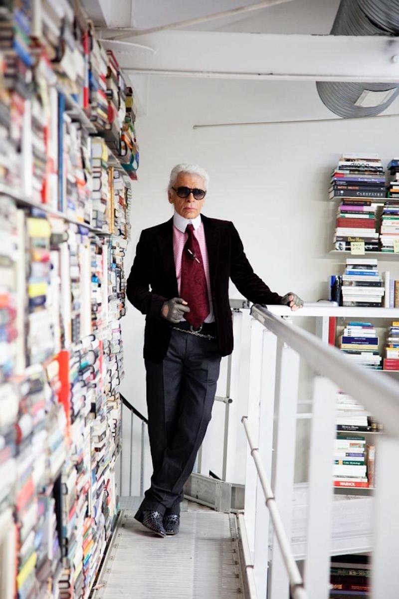 Sneak Peek Inside Karl Lagerfeld S Private Library