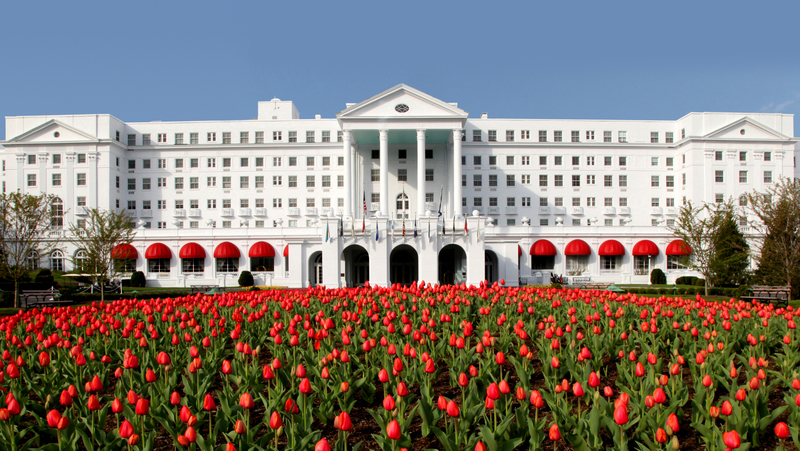 The Greenbrier's Front Entrance