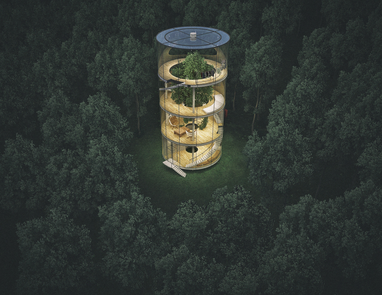 An Inverted Glass Treehouse For The Grownups