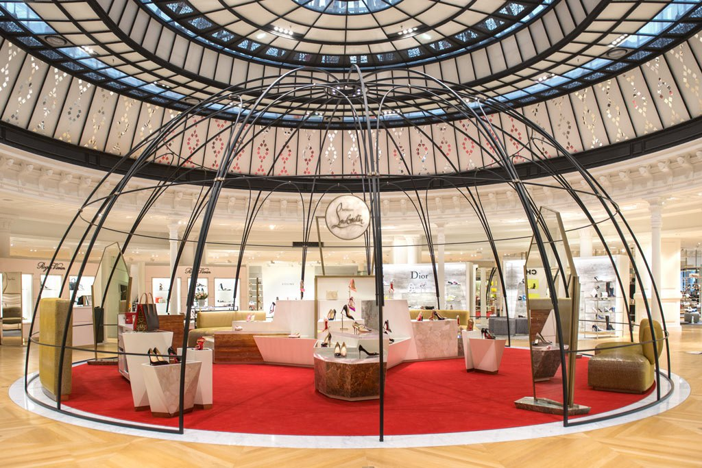 christian louboutin opens new boutique in le bon march