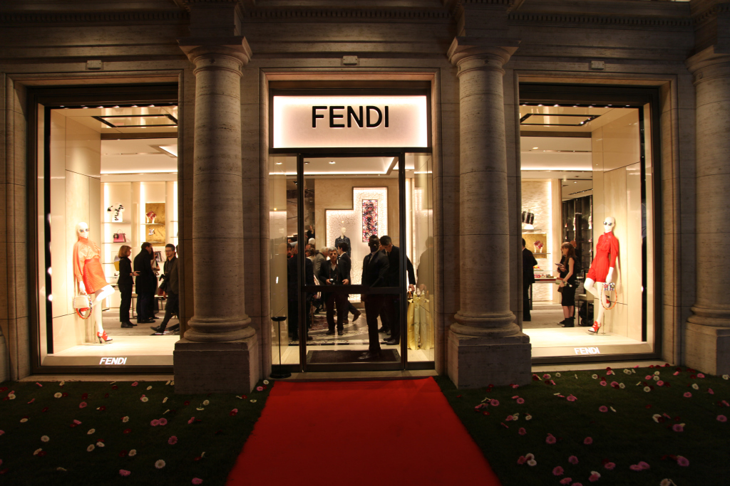 At The Opening Of Pallazo Fendi