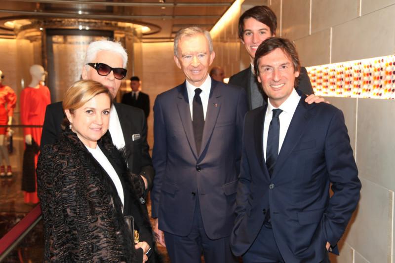 Silvia Venturini Fendi, Karl Lagerfeld, Berdard Arnault, Alexandre Arnault, Pietro Beccari