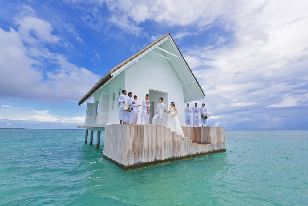 This Overwater Wedding Chapel In The Maldives Might Be The Most Romantic Wedding Venue of All Time