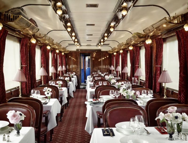 A Gourmet Meal Awaits Diners On Board La Table Orient Express
