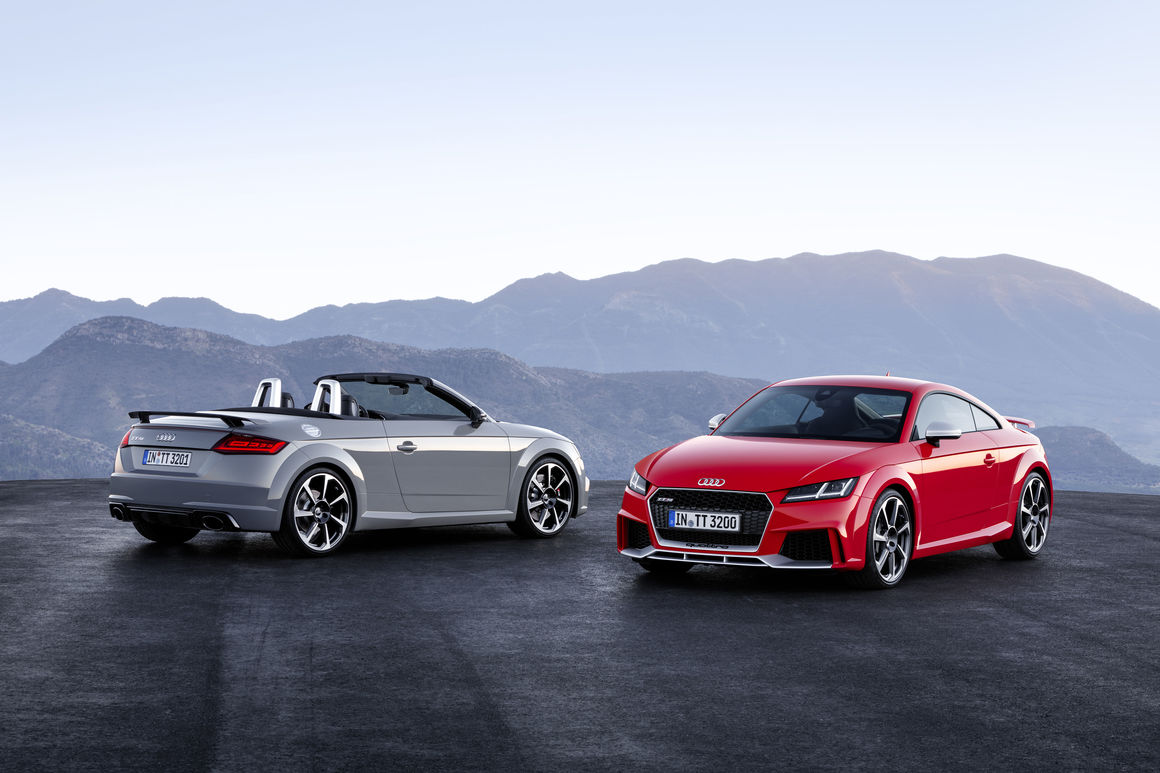 New Audi TT RS Coupé and Audi TT RS Roadster