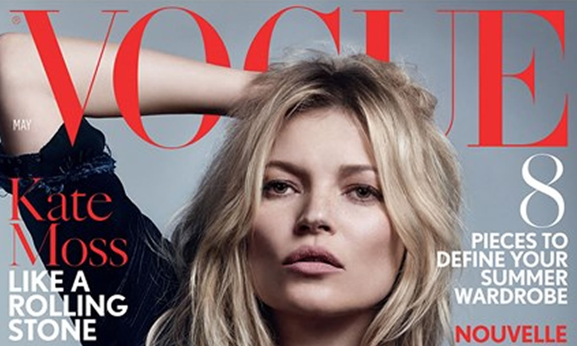 Kate Moss Is The Cover Girl Of Vogue May