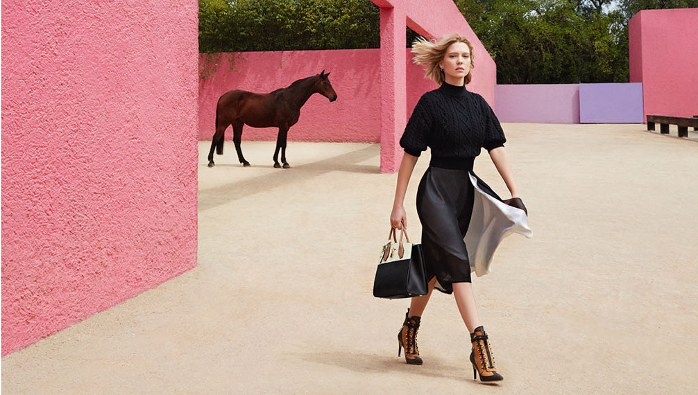 6db57dd9e709 Léa Seydoux Is On The Move In Her First Louis Vuitton Campaign ...