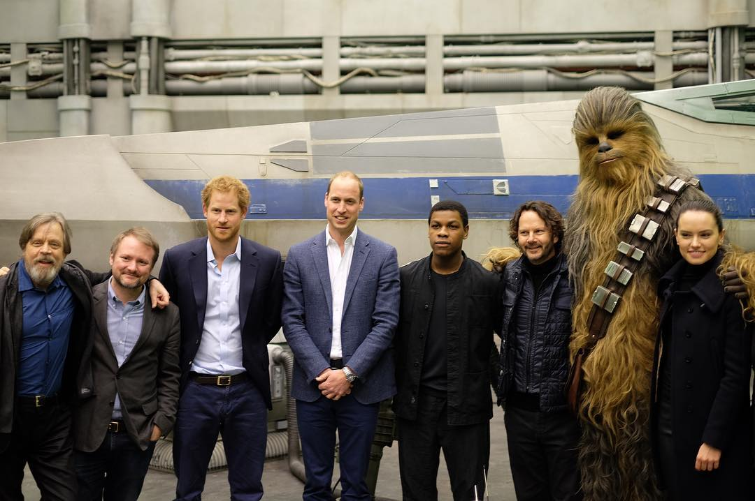 Princes William And Harry Visit The Star Wars Episode VIII Set