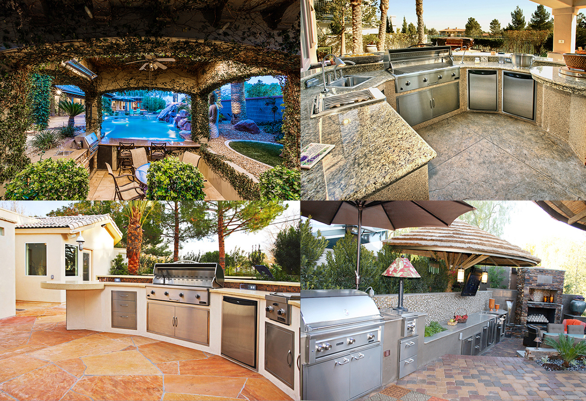 Outdoor kitchens for luxury living in warm climates for Luxury outdoor kitchen