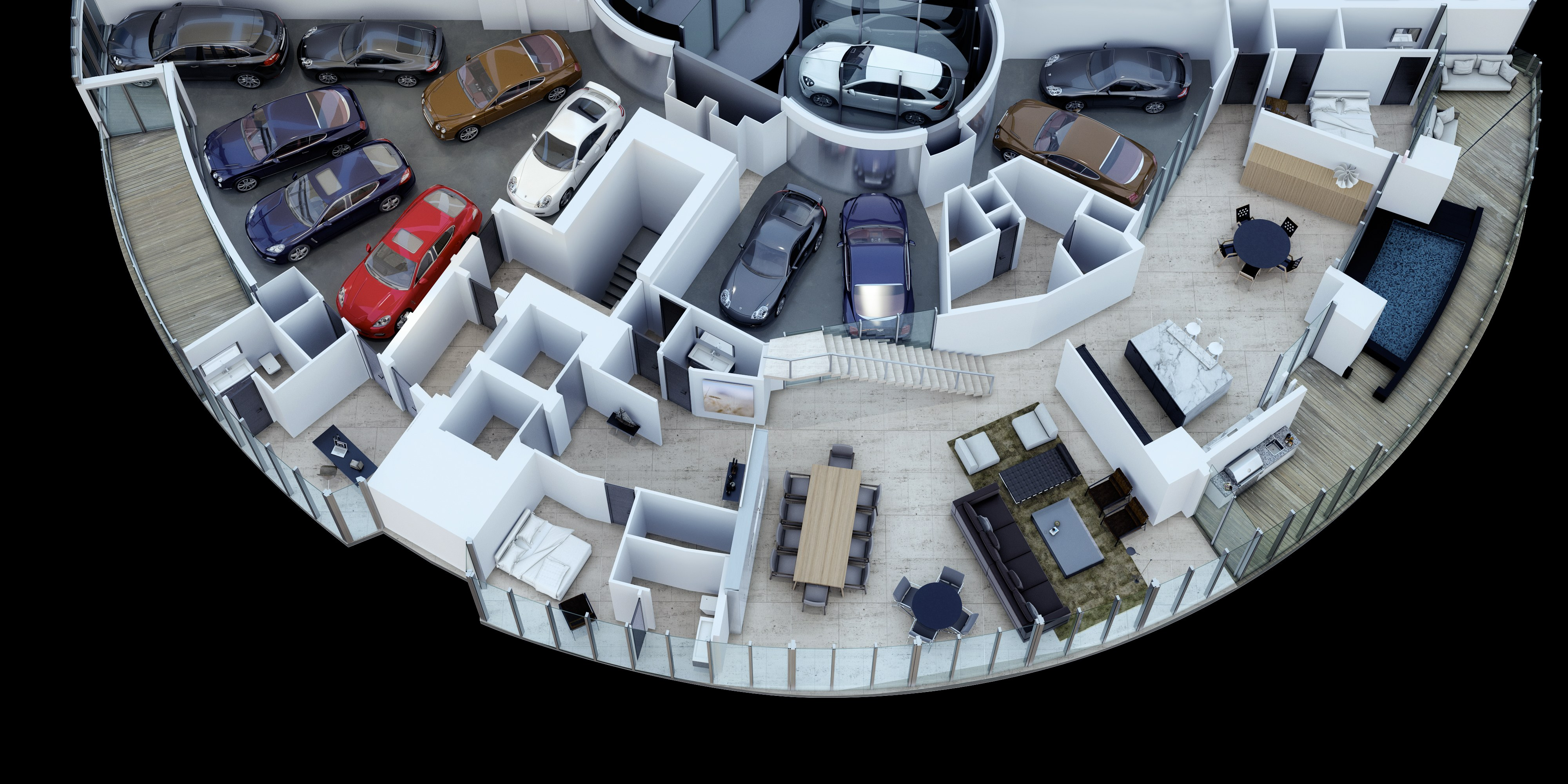 Porsche Design Tower >> Porsche Design Tower Penthouse Comes With A 11 Car Garage On The