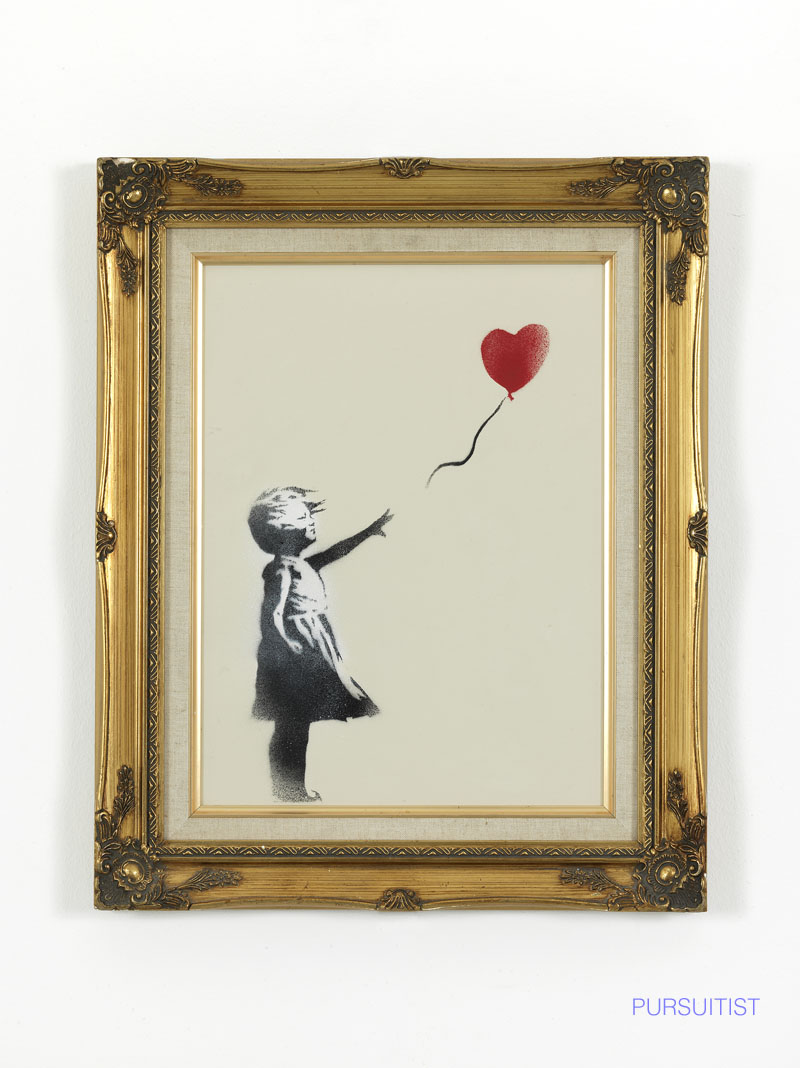 Banksy, Girl with balloon  cm. 30 x 40_0091