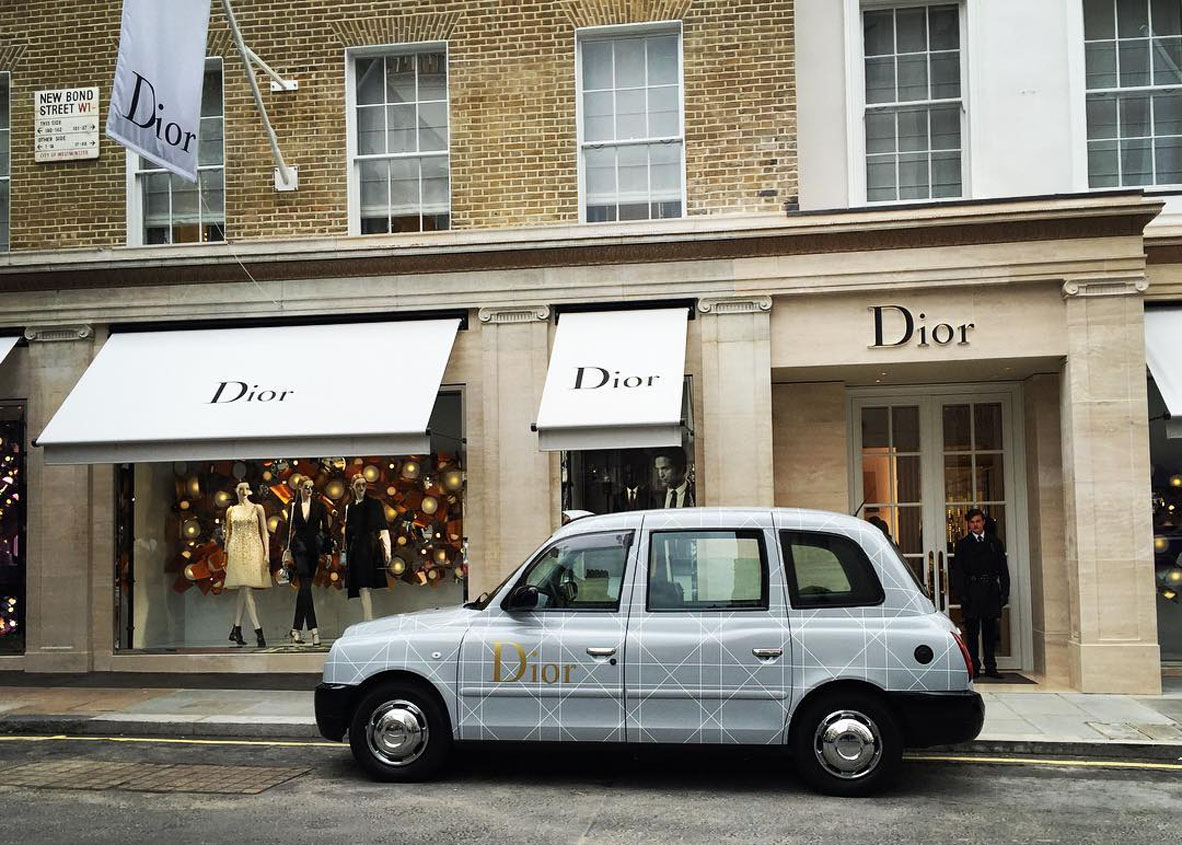 Dior Bond Street Opens With Dior Taxi Cabs