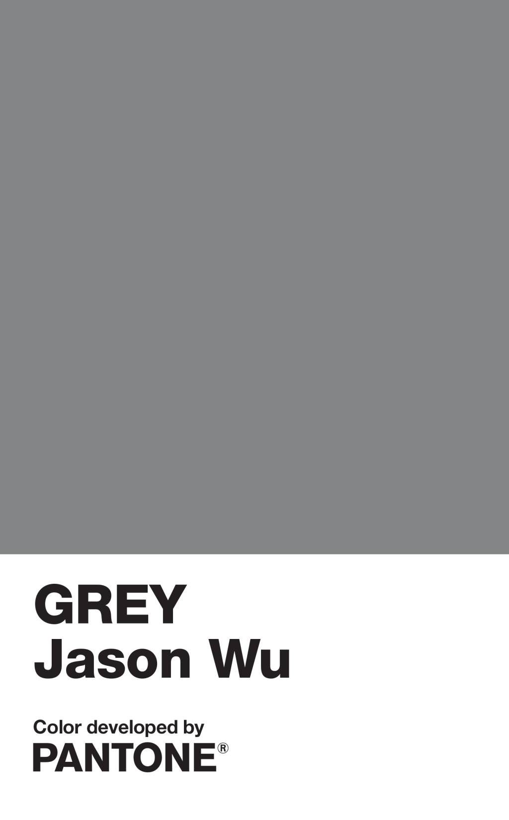 Jason Wu Creates Pantone Color 'Grey Jason Wu'