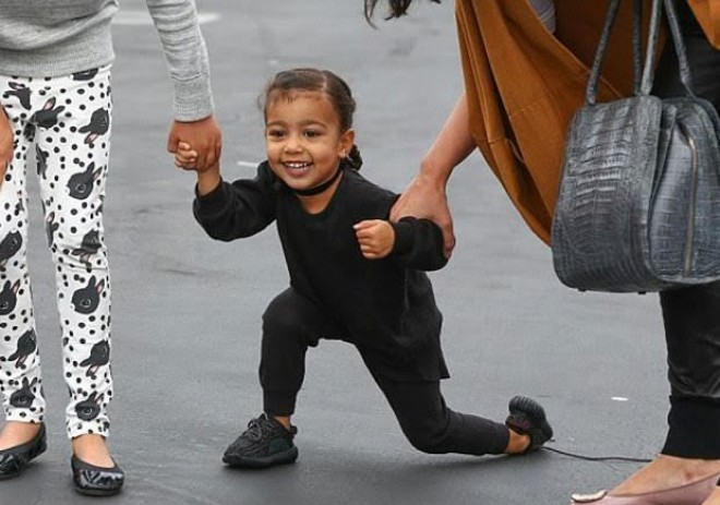 Kim first introduced the baby Yeezys in October on her Instagram, and said that were made exclusively for daughter North