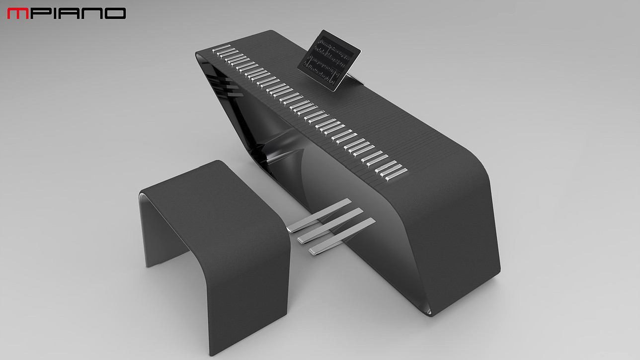 The mPiano from Alpha Piano and Porsche Design