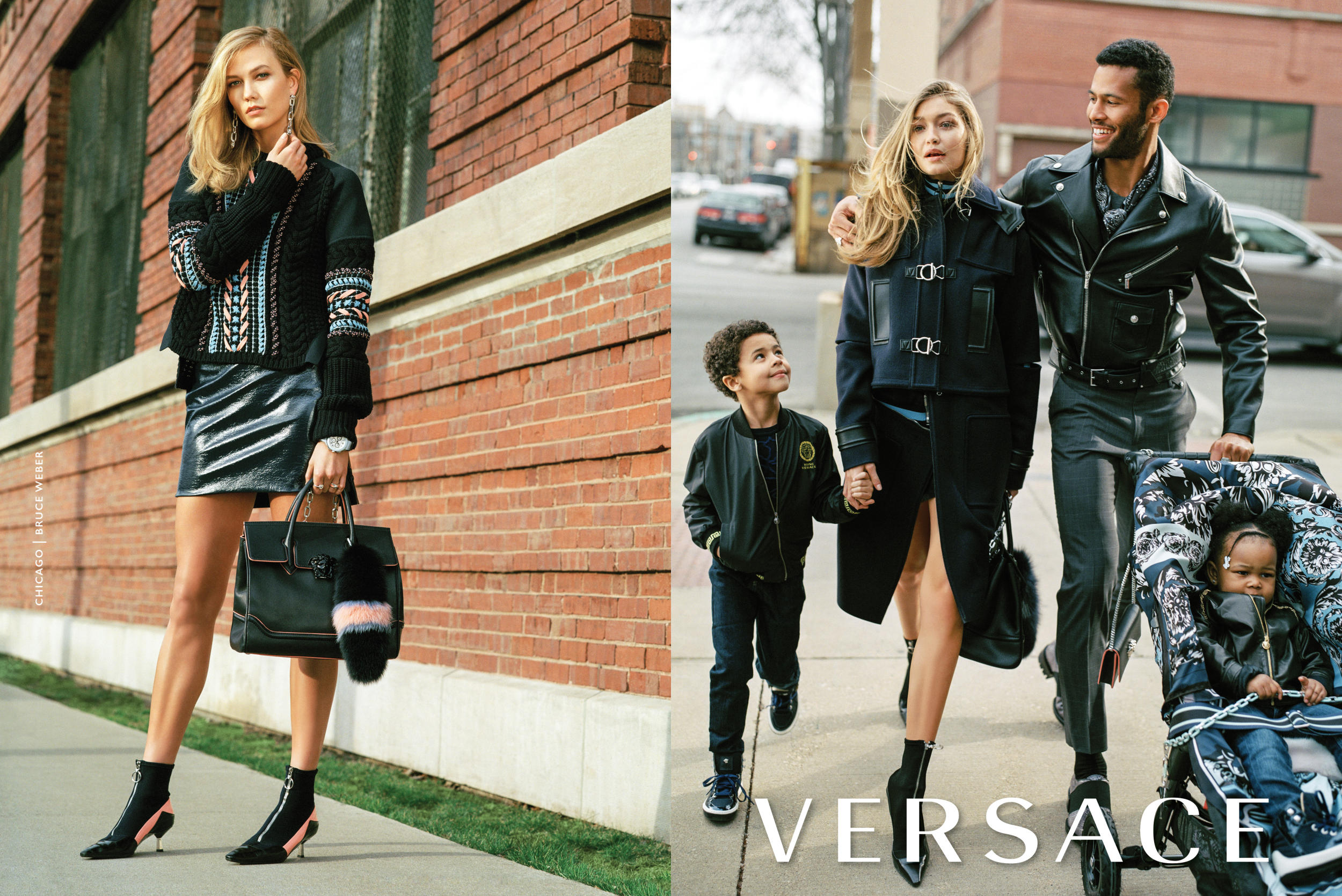 Karlie Kloss And Gigi Hadid For Versace