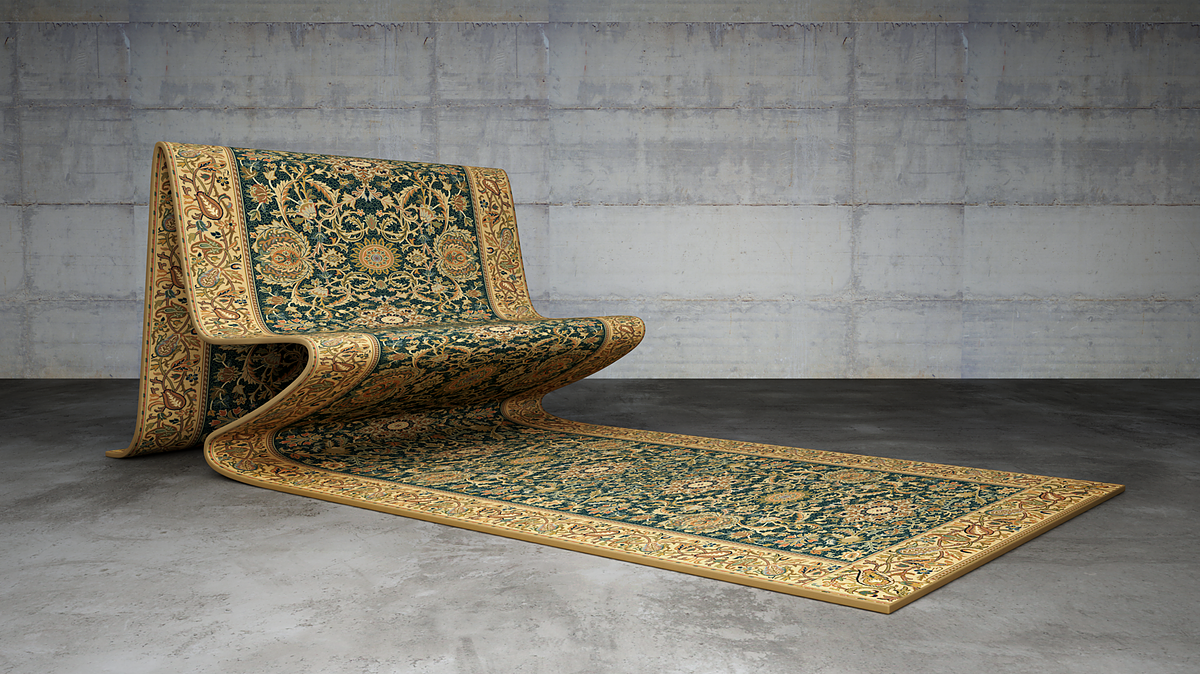 Persian Rug Sofas and Other Marvels by Mousarris