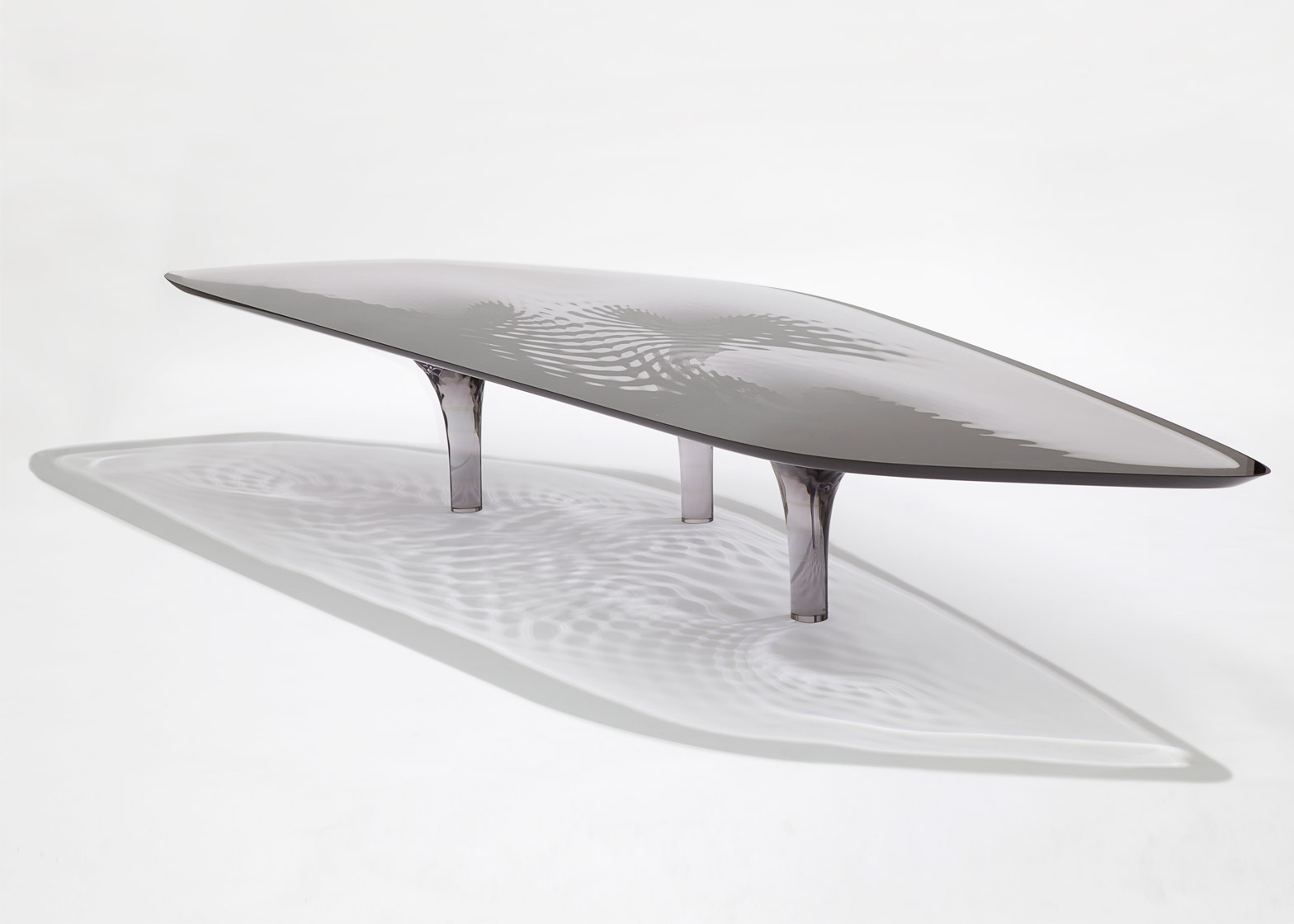 Liquid Glacial cocktail table, 2012, by Zaha Hadid at David Gill Gallery.