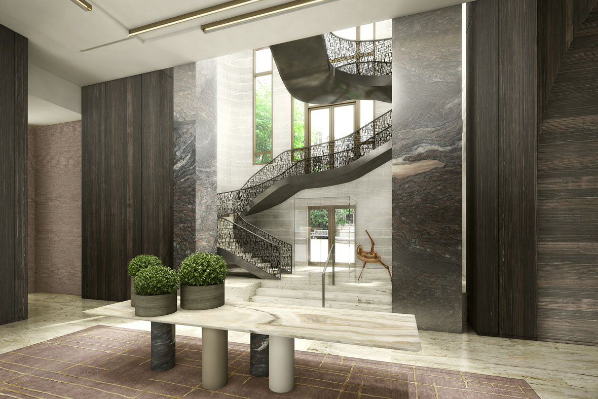 Four Seasons New York DowntownFSNY Downtown Grand Staircase