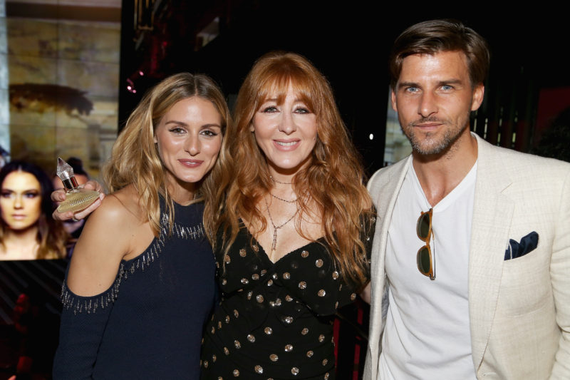 NEW YORK, NY - SEPTEMBER 10: (L-R) Olivia Palermo, make-up artist Charlotte Tilbury and Johannes Huebl pose for a photo during Charlotte Tilbury x Samsung at 837 Washington on September 10, 2016 in New York City. (Photo by Paul Morigi/Getty Images)
