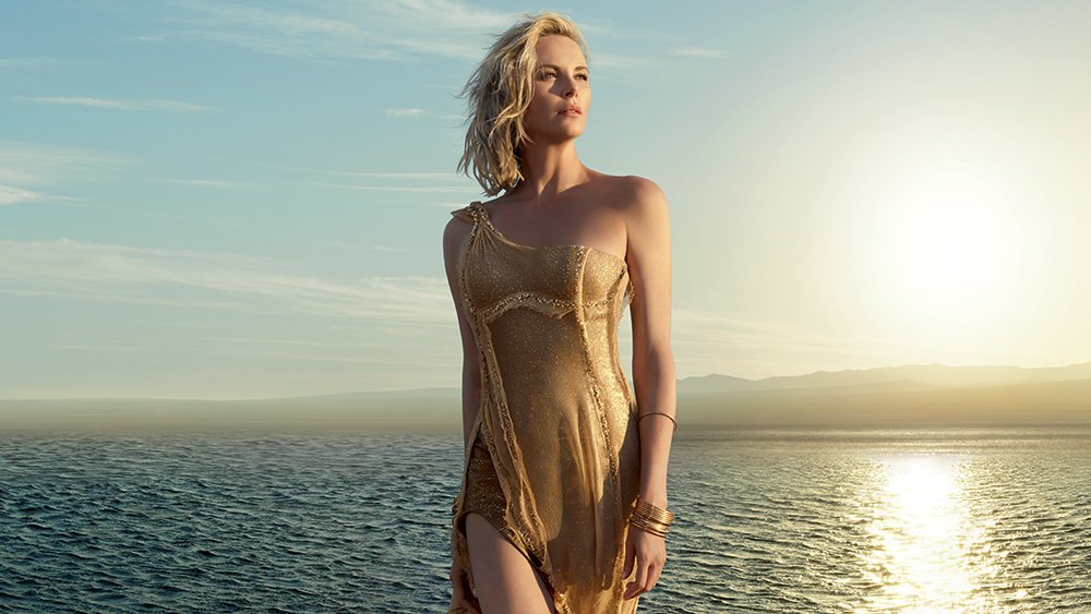 Charlize Theron Is A Golden Goddess For Dior Jadore
