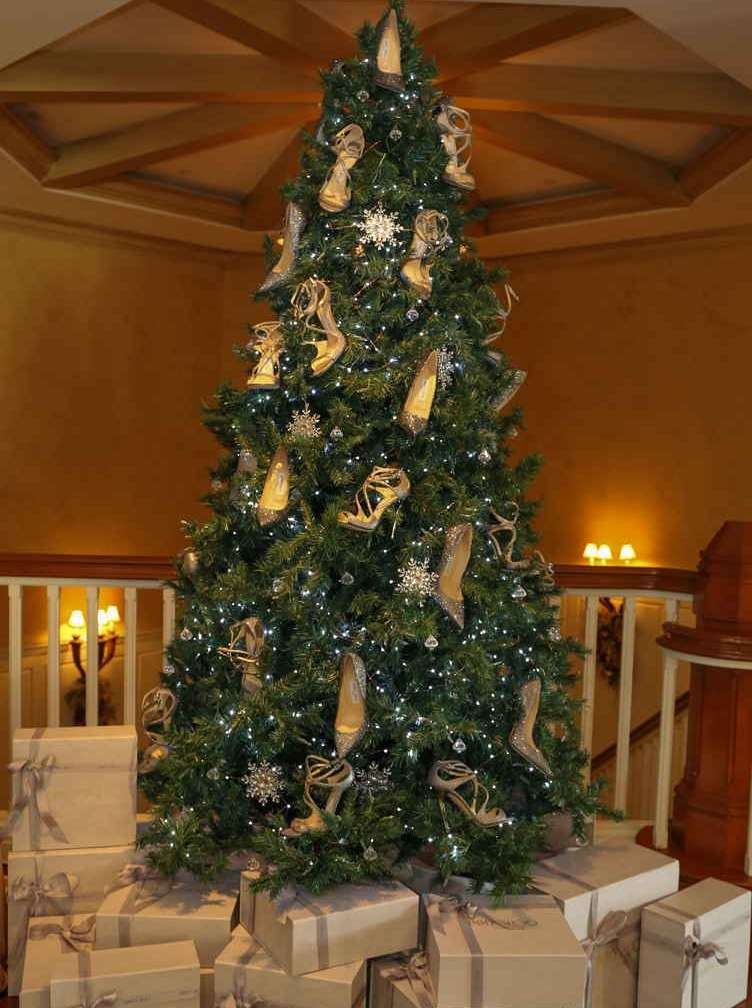 Jimmy Choo Shoes Grow On Montage Laguna Beach Christmas Tree