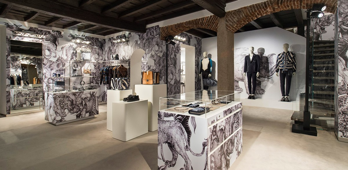 Louis Vuitton Opens First Pop-Up Store For Men In Milan