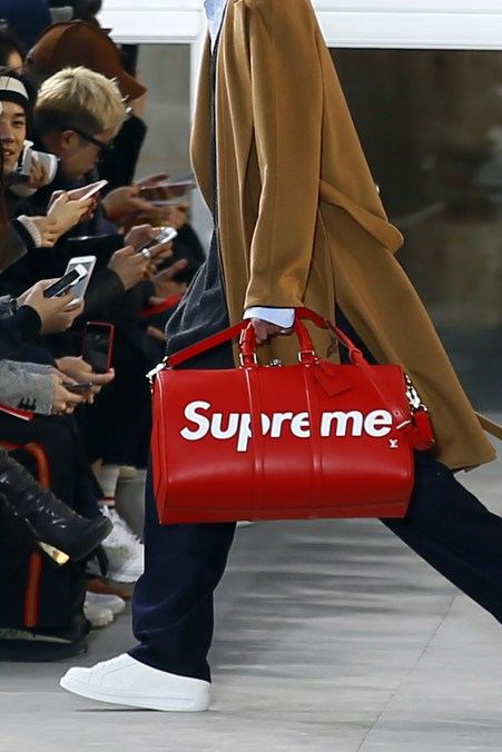 Louis Vuitton And Supreme Collaboration Debuts At Paris Fashion Week
