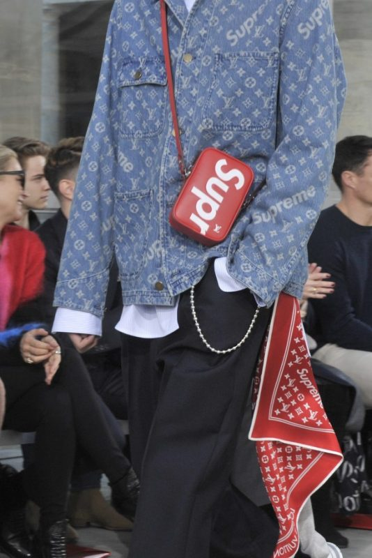 Louis Vuitton And Supreme Collaboration Debuts At Paris Fashion Week -  Pursuitist 390c26a69fe