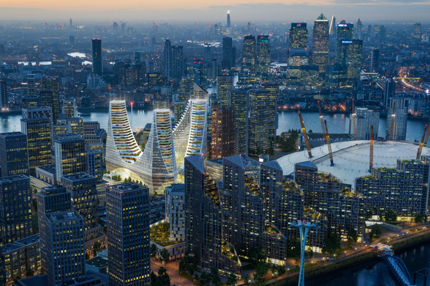 Santiago Calatrava Releases Designs for London's Peninsula Place