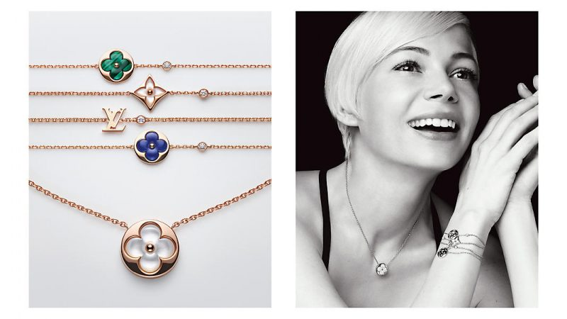 michelle williams presents louis vuitton blossom collection
