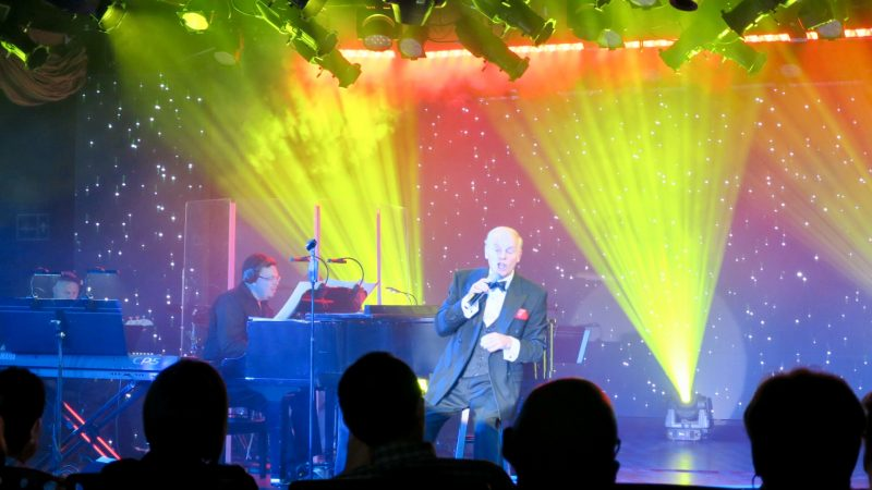 A live performance in the theater on Oceania Cruises Marina ship