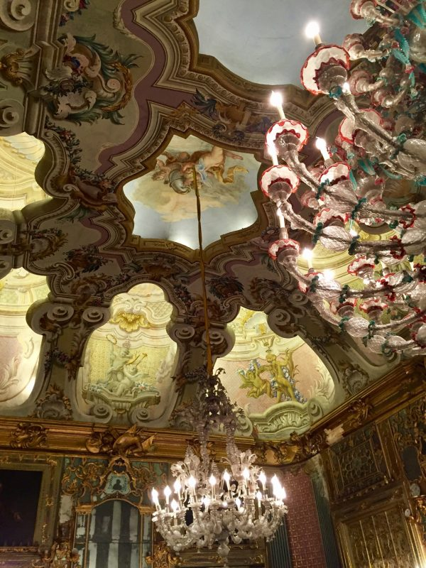 View of a beautiful ceiling in a privately-owned palace.