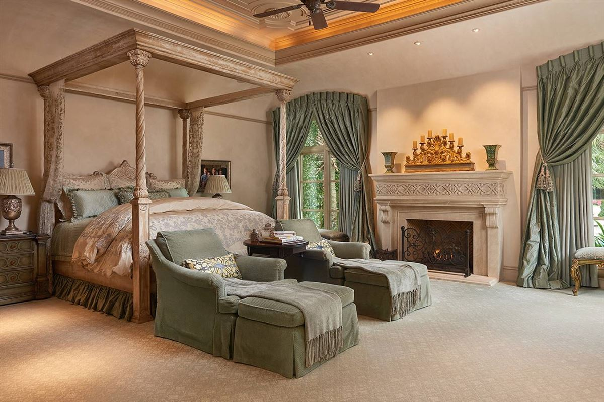 Stunning The master bedroom provides an escape from the hustle and bustle of the modern world while marble floors and features provide a sense of glamour to each of