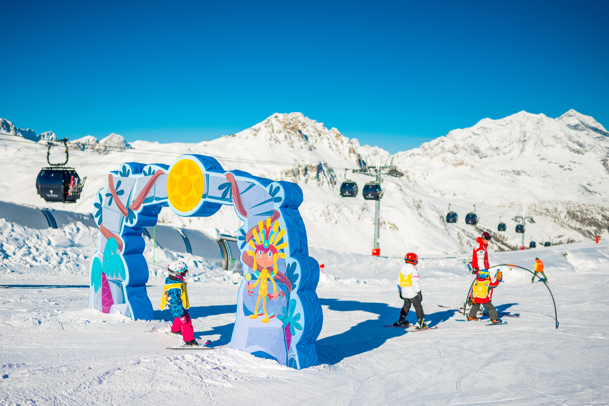 There is a a dedicated beginner area which offers a ski school for kids. Image courtesy of Val d'Isère.