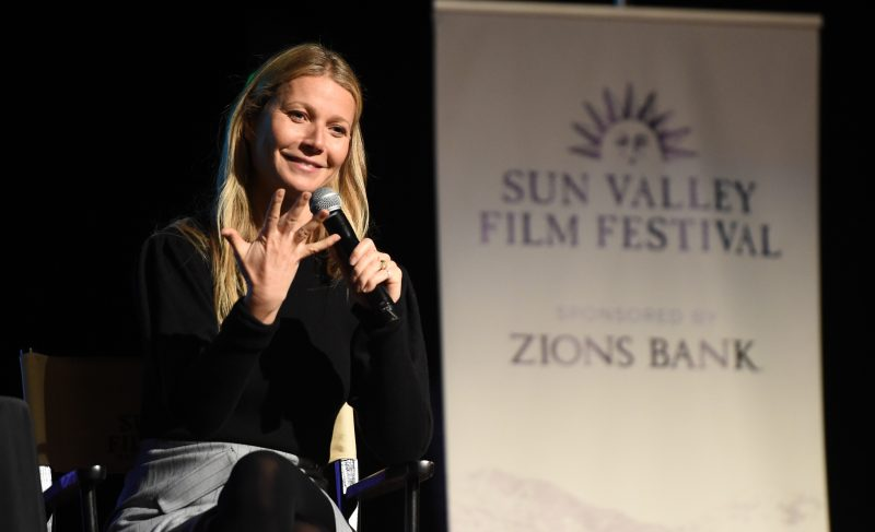 Actress Gwyneth Paltrow at the Sun Valley Film Festival
