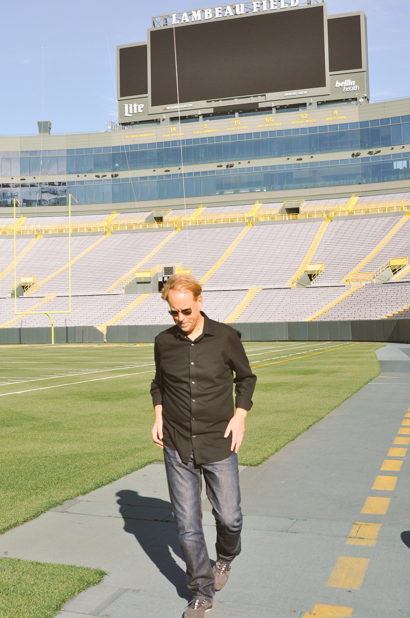 Parr Visits Packers