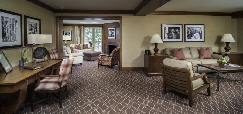 The Clint Eastwood Suite at the Sun Valley Lodge.