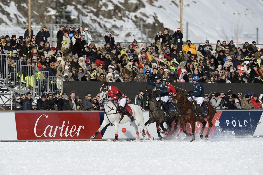 In 2020, the Snow Polo World Cup St. Moritz will take place on January 24, 25 and 26th.