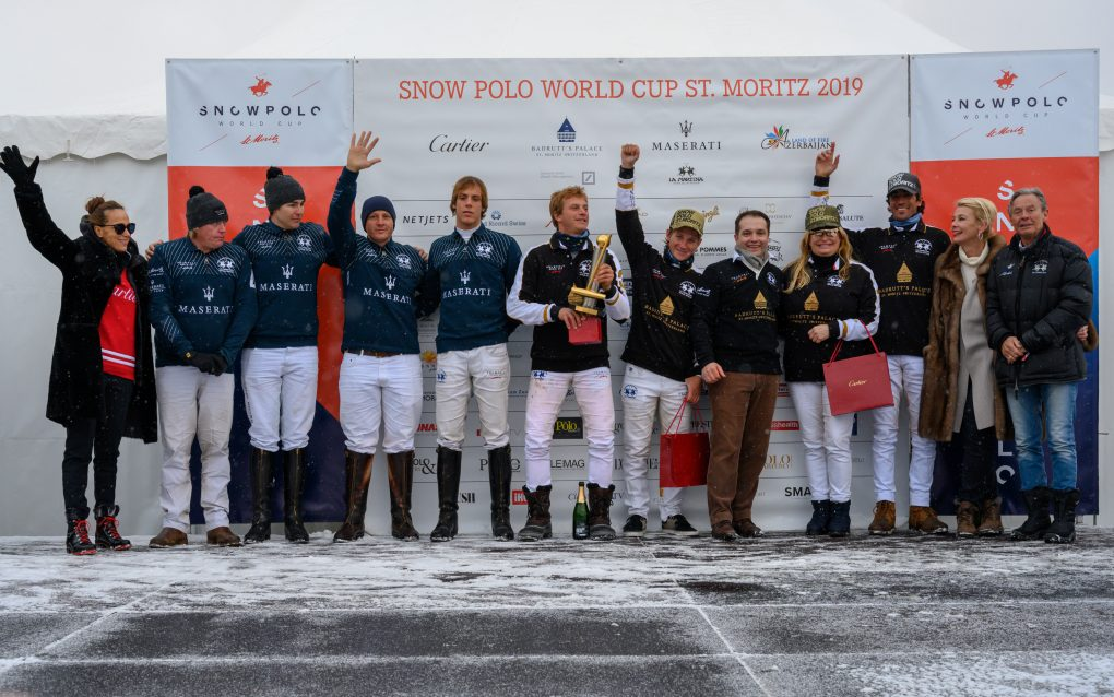 The Badrutt's Palace team, led by team captain, American Melissa Ganzi beat Team Maserati 7-3 to take the the Cartier Trophy.