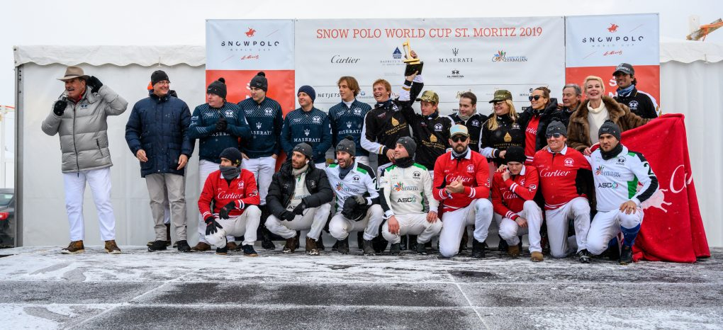 Some of the world's top professional and amateur polo players descended on the Swiss village to compete on Lake St. Moritz, which is frozen solid.